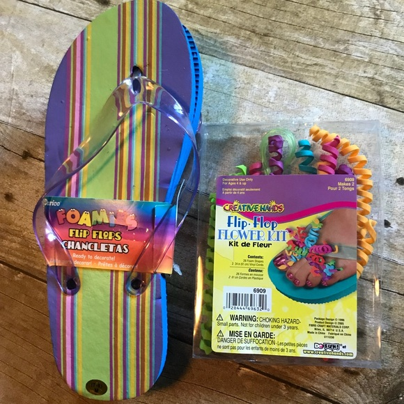 Creative Hands Shoes Fun Flip Flops With Decorating Kit Poshmark